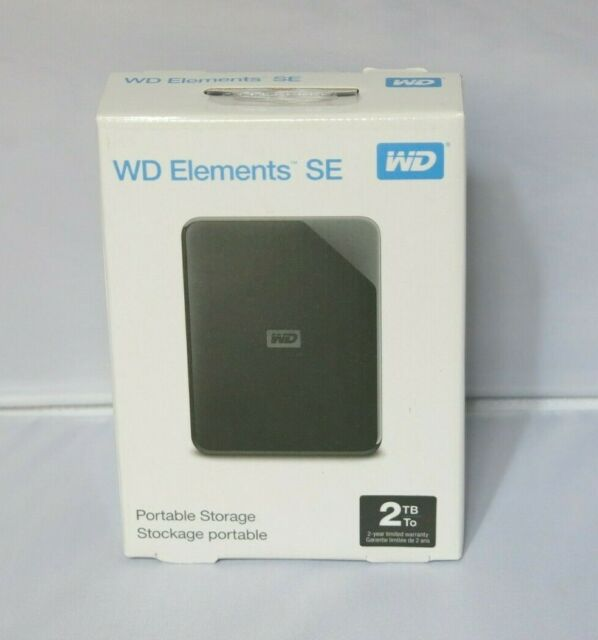 DISCO DURO portatil - WD ELEMENTS SE 2TB - USB 3.0 Western Digital NEGRO NUEVO