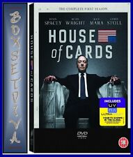 HOUSE OF CARDS - COMPLETE SEASON 1 **BRAND NEW DVD **