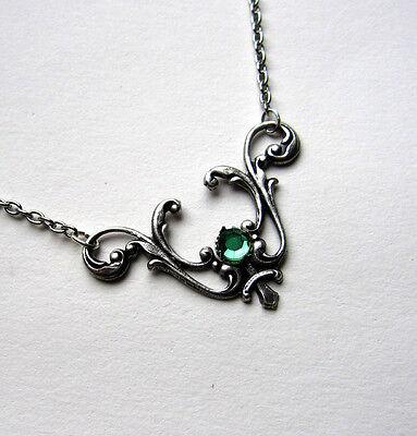 Gothic VICTORIAN Filigree RENAISSANCE Elf ELVEN Medieval Necklace/Pendant Silver