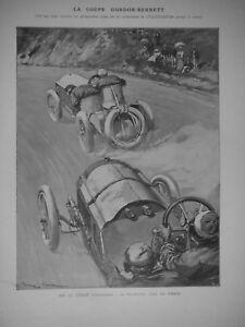 ARTICLE-DE-PRESSE-1905-LA-COUPE-GORDON-BENNETT-CARTE-ET-CLASSEMENT-DE-LA-COURSE