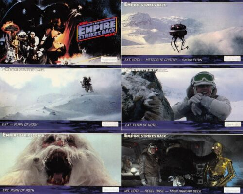 STAR WARS THE EMPIRE STRIKES BACK WIDEVISION 1995 TOPPS BASE CARD SET OF 144