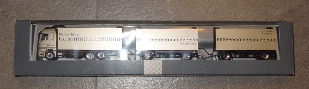 Herpa MB ACTROS chaterway garantiiiiiiieeeee Hängerzug IAA 1 87 OVP (R1_1)
