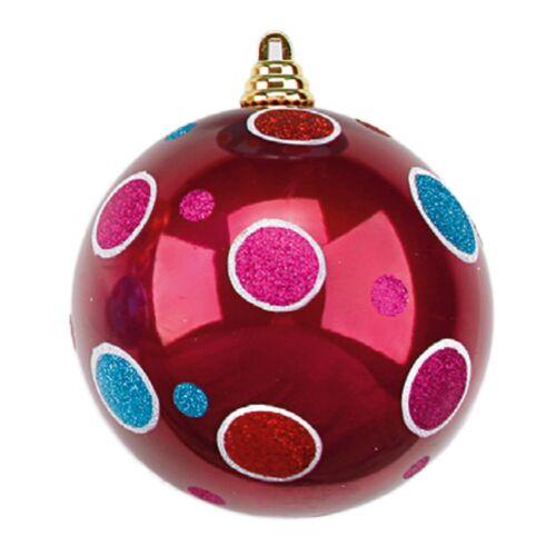Weihnachtskugeln Mix /& Match Kunststoff mit Punkte Ø 15-25cm