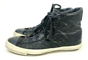 985ac81284ead CONVERSE John Varvatos Black Leather Lace Up All Star High Top ...