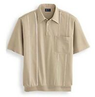 John Blair Men's Piped Polo Shirt - Short Sleeve - Size 5xl - Sand