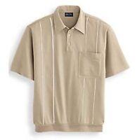 John Blair Men's Piped Polo Shirt - Short Sleeve - Size 5xl - Sand
