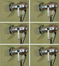 6 x PAR-30 Spot-Scheinwerfer Silber incl. Torblende Flügelbegrenzer, E27 Fassung