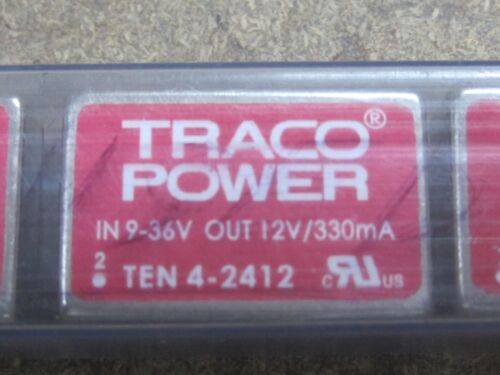 36 V; Uout:12VDC; 330mA 1pcs TRACO POWER TEN 4-2412  DC//DC CONVERTER 4W; Uin:9