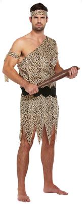 Mens Neanderthal Caveman Prehistoric Tarzan Film TV Fancy Dress Costume Outfit