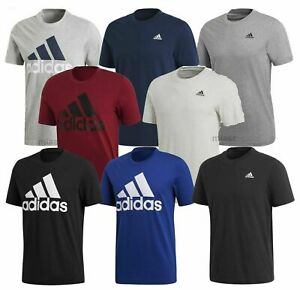 Adidas-T-shirt-Mens-Sport-Essentials-Linear-Base-Short-Sleeve-Crew-Neck-NEW-UK