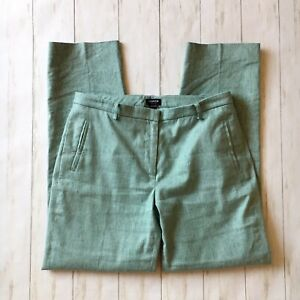 Worth-New-York-Womens-Size-8-Seafoam-Green-Linen-Blend-Striaght-Leg-Pants-Career