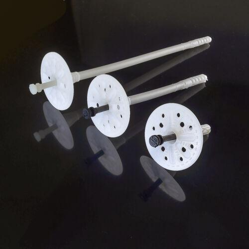 100-500 Stück Tellerdübel mit Kunstoffnagel Dämmstoffdübel Styropor Stahl TOP