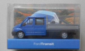 BLUE-CAB-4-DOOR-FORD-TRANSIT-UTILITY-TRUCK-RIETZE-1-87-HO-Scale-Plastic