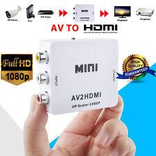 Mini Composite CVBS 3RCA AV to HDMI Video Converter Adapter 720p 1080p Upscaler