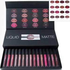 HUDA BEAUTY Makeup Liquid Matte Lipstick Full Collection Set 16 Shades UK Stock