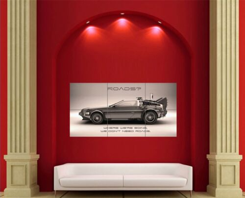 Back To The Future Movie Film Car Giant New Poster Art Print