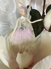 Poseable Handmade Aster Flower Fairy Collectible Doll Ornament