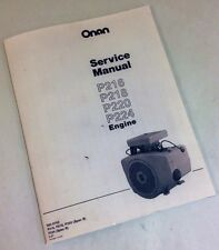 Miller Bobcat 225 225g Welder Generator Onan Engine Service Manual Shop Service