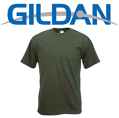 NEW,MILITARY GREEN GILDAN HEAVY T SHIRT,OLIVE,CAMO,ARMY,COMBAT.ADULTS