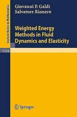 1 of 1 - Weighted Energy Methods in Fluid Dynamics and Elasticity (Lecture-ExLibrary