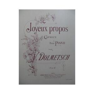 DOLMETSCH-V-Joyeux-Propos-Piano-partition-sheet-music-score