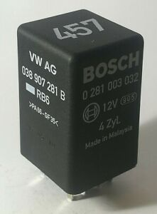038907281B-Audi-VW-Seat-Skoda-Glow-Plugs-9-Pin-Black-Relay-457-BOSCH-0281003032