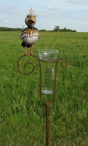 Regenmesser Vogel Niederschlagsmesser Beetstecker Gartendeko Landhaus 18450
