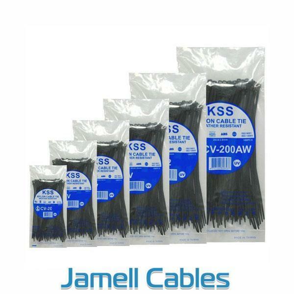 KSS Nylon Cable Ties 550mm x 8mm Pkt 100 CV-550W