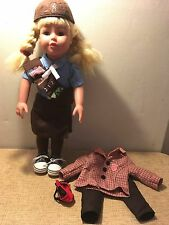"""18"""" ADORA """"Alyssa"""" Our Generation DOLL DRESSED in Brownie and Girl Scout Uniform"""