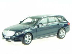 Mercedes-S205-C-class-T-model-estate-Exclusive-blue-diecast-model-car-Norev-1-43