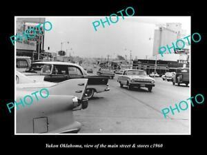 OLD-LARGE-HISTORIC-PHOTO-OF-YUKON-OKLAHOMA-THE-MAIN-STREET-amp-STORES-c1960