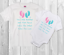 Cute twins bodysuit or t-shirt set of 2 //twin gift twin arrival gift