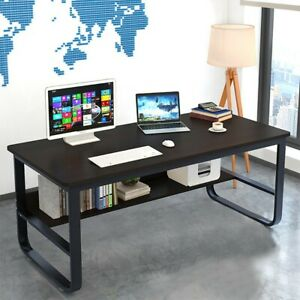 Wood-Computer-Desk-PC-Laptop-Table-Study-Workstation-Folding-Home-Office-School