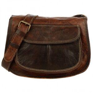 fd8906f0d7 Women s Vintage Leather Messenger Bag Purse Tote Handbag Satchel ...