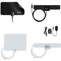 Digital Indoor Leaf Flat Tv Antenna Hdtv Dtv Signal Booster Hd Vhf Uhf High Gain
