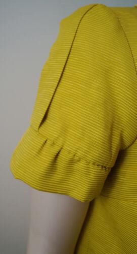 Us10; Fiorire Yellow Co Short Blazer Sunshine Sleeve Boxy amp; Max Uk14 Jacket vTEqOO