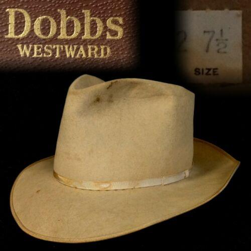 Vintage 7-1/2 1950s Dobbs Westward Thin Ribbon Wes