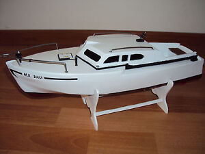 Model Boat Plans RC Model Cabin Cruiser Antaress Laser Cutting Plans ...