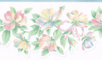 Laser Cut Pastel Floral Victorian Wallpaper Border