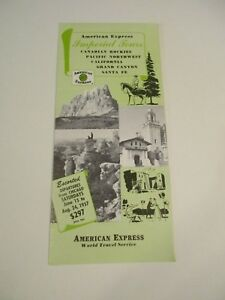 1957 American Express - Imperical Tours California - World Travel Brochure