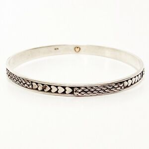 Brighton-Sterling-Silver-Bangle-Braided-Heart-Bali-Limited-Edition-Bracelet