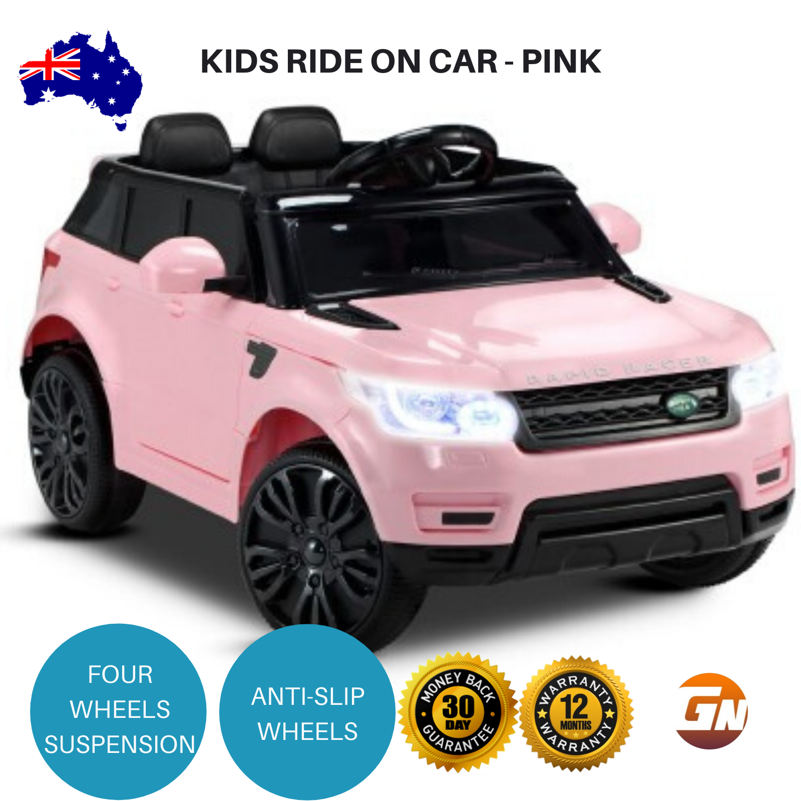 Kids Girls Toy Ride On 12v Battery 3 8kph Electric Car Twin Motors 50w 12v Pink Ebay