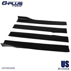 Speedmotor New 4 Pcs Universal Rocker Panel Extension Lower Side Skirts Body Kit Car Side Skirt Extension Splitter Black