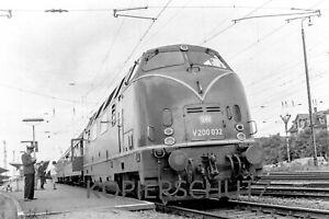 Original Negativ Diesellok V200 032 (Bw Villingen) Offenburg, 7.1966