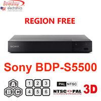 Sony Bdp-s5500 All Region Free Blu-ray Dvd Player - A, B, C & 0-9 Pal/ntsc