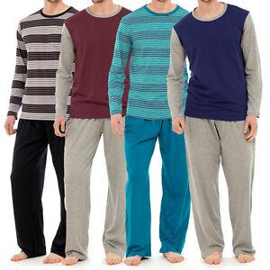 Para Hombre Lounge Pijama Pijamas Conjuntos Desgaste Noche Pj 2 Pieza Pijama Set Caballeros Talla M Xxl Ebay