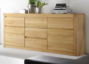 sideboard kommode buche kernbuche teil massiv anrichte schubkasten ponto 185 cm ebay. Black Bedroom Furniture Sets. Home Design Ideas