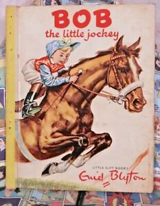 BOB-THE-LITTLE-JOCKEY-ENID-BLYTON-LITTLE-GIFT-BOOK-1952-PIERRE-PROBST-GOLDEN-VGC