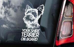 Yorkshire-Terrier-a-Bordo-Coche-Ventana-Pegatina-Yorkie-Signo-Regalo-V01
