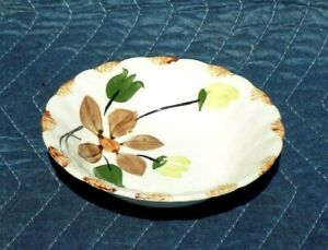 6-034-Floral-Bowl-Dish-Blue-Ridge-Southern-Potteries-inc-USA-Hand-Painted